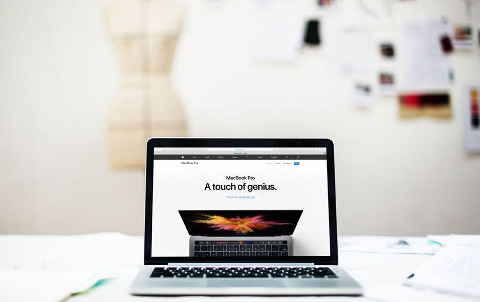 Macbook Pro Mockup With Blurred Background
