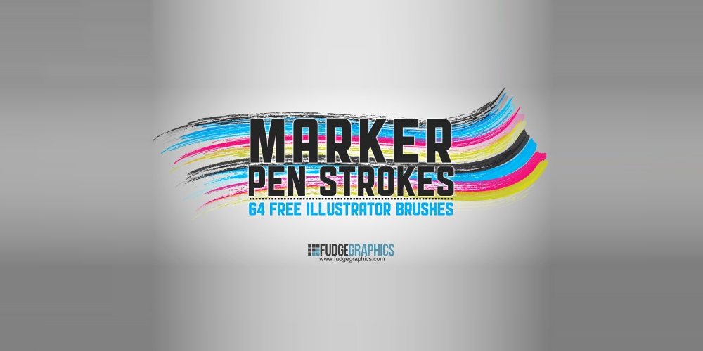 Marker Pen Strokes Illustrator Brushes