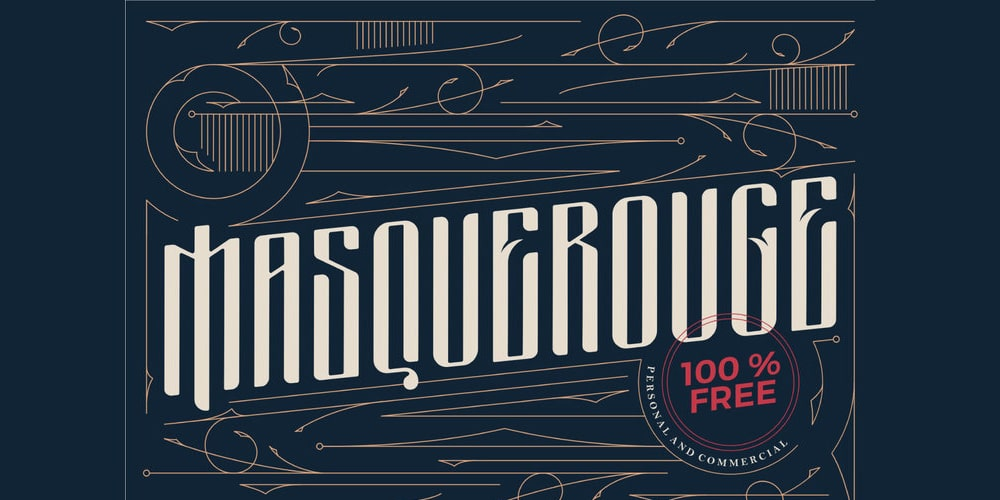Masquerouge Vintage Display Font