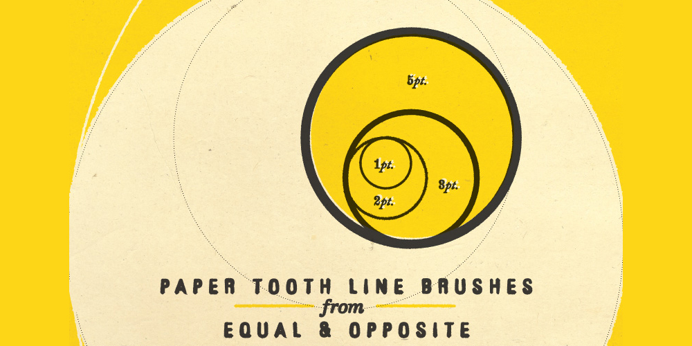 Paper Tooth Line Brushes