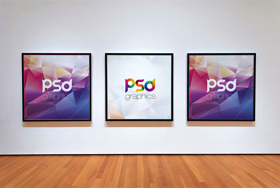 Photo Gallery Frame Mockup Free PSD