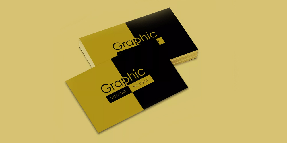 Visiting Card Design Mockup PSD