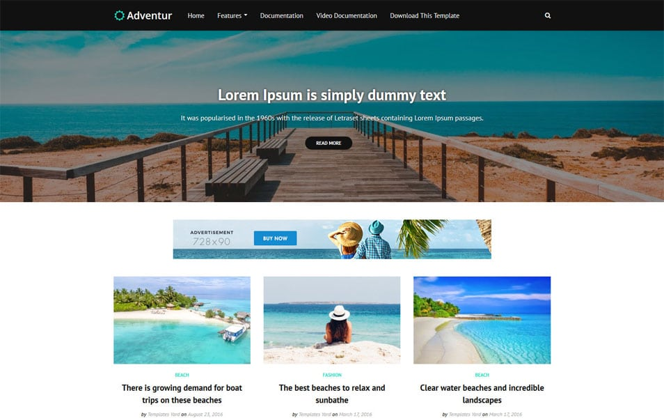 Adventur Responsive Blogger Template