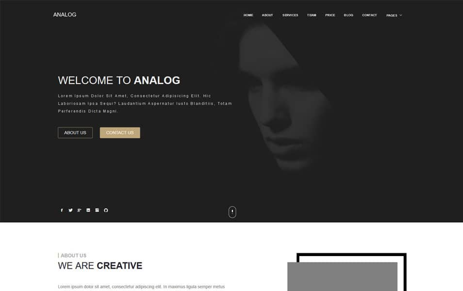 Analog Responsive Blogger Template