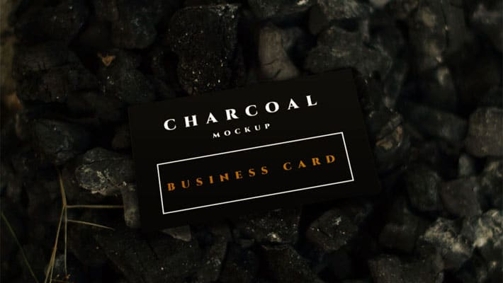 Charcoal Business Card Mockup