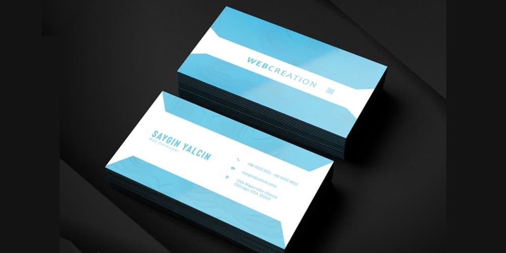 Clean Modern Business Card Template PSD