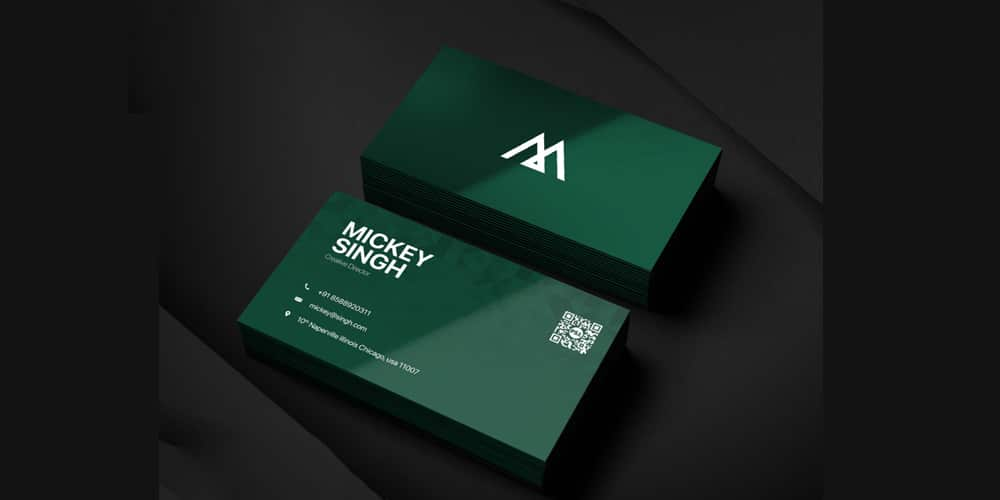 Company Business Card Template PSD