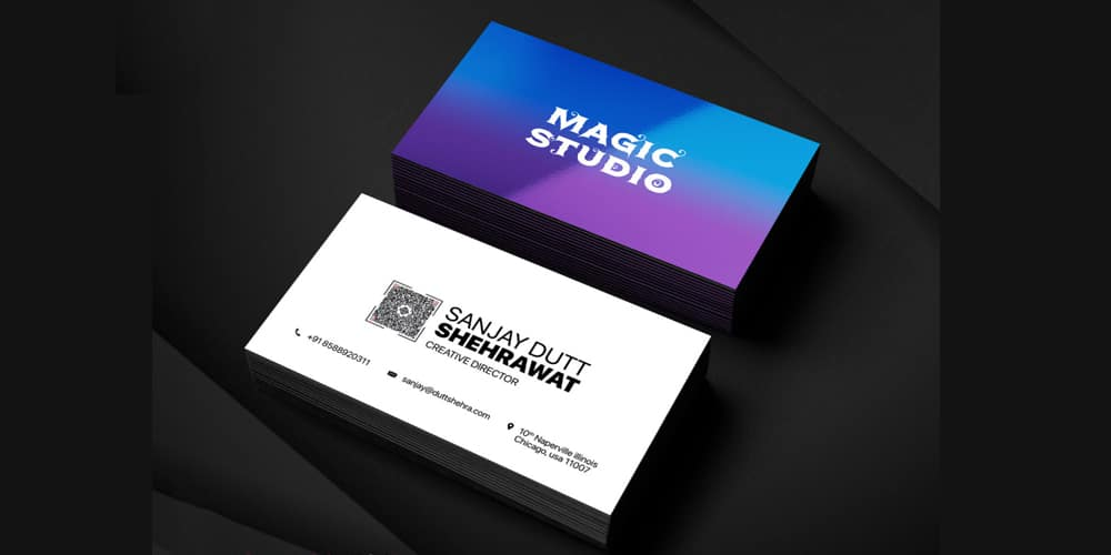 Director Business Card Template PSD