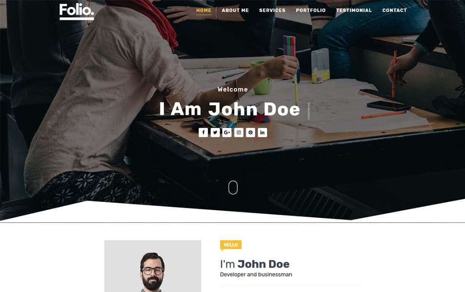 Folio Responsive Blogger Template