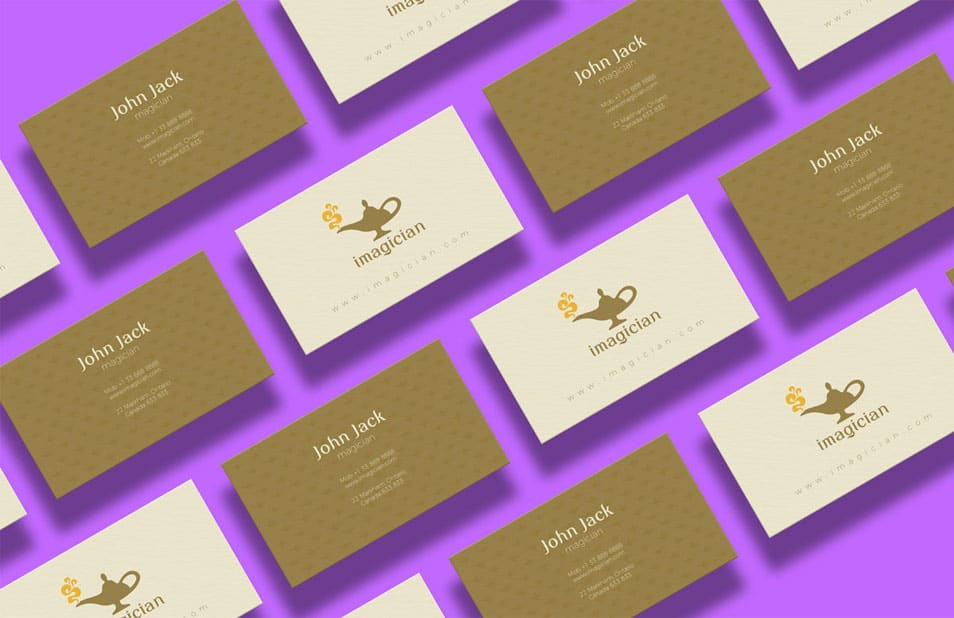 Free Business Card Design Template & Mock-up PSD