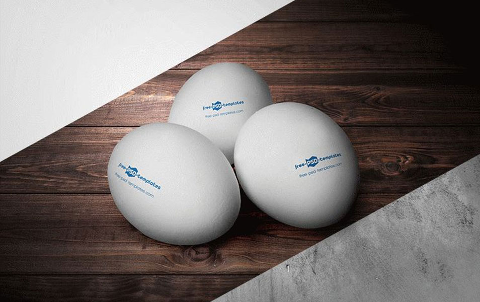 Free Marking Eggs Mock-up in PSD