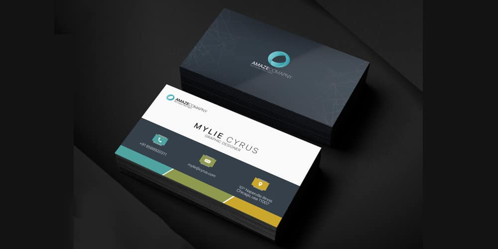 Free Simple Business Card Template PSD