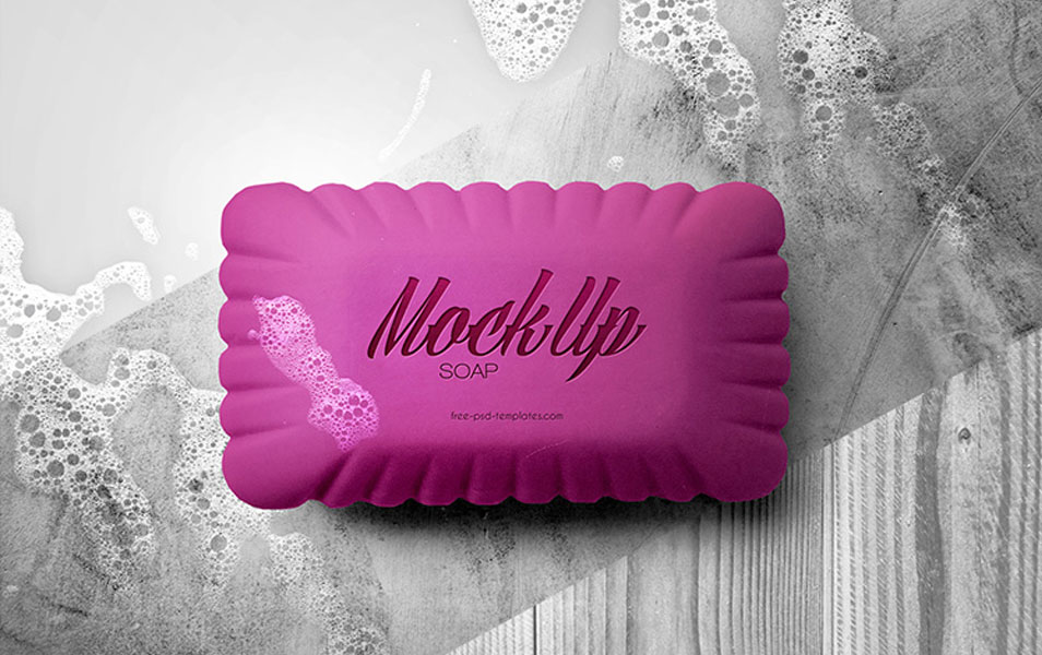 Free Soap Mock-up in PSD