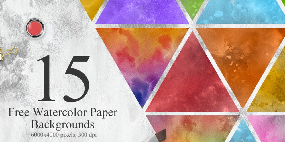 Free Watercolor Colorful Textures