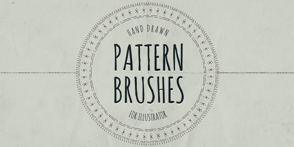 Hand Drawn Pattern Brushes for Illustrator