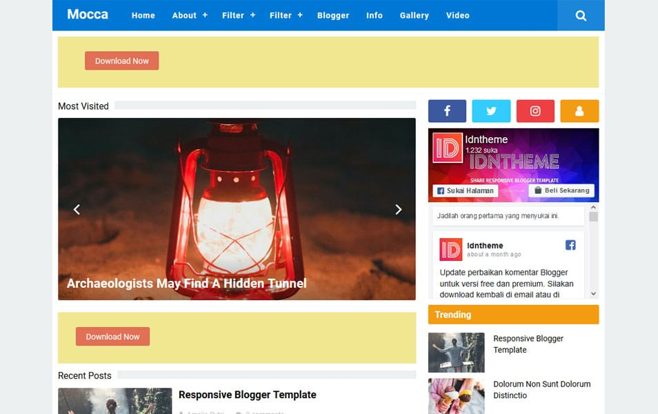 Mocca Responsive Blogger Template