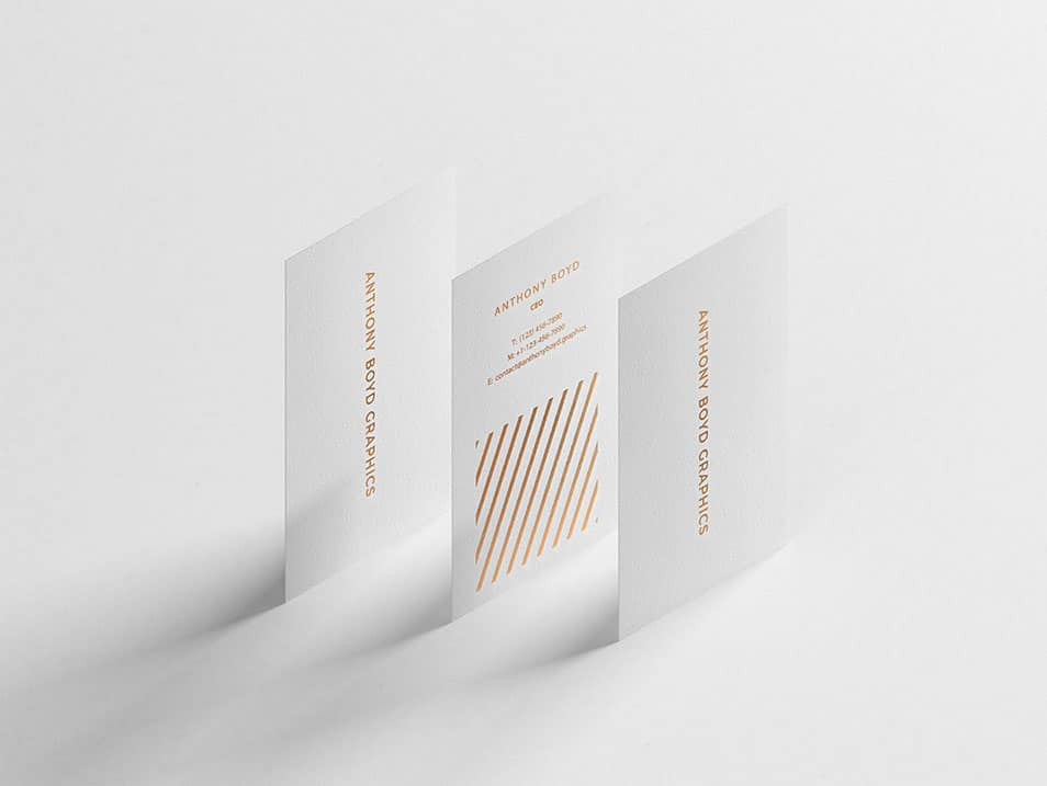 Modern Vertical Business Card Mockup