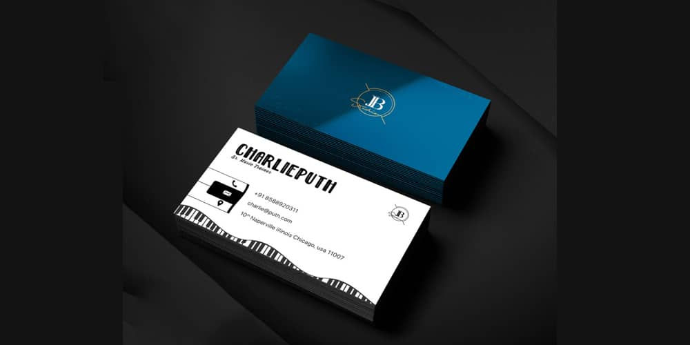 Musician Bussiness Card Template PSD