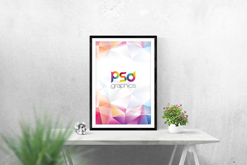 Photo Frame Mockup Free PSD