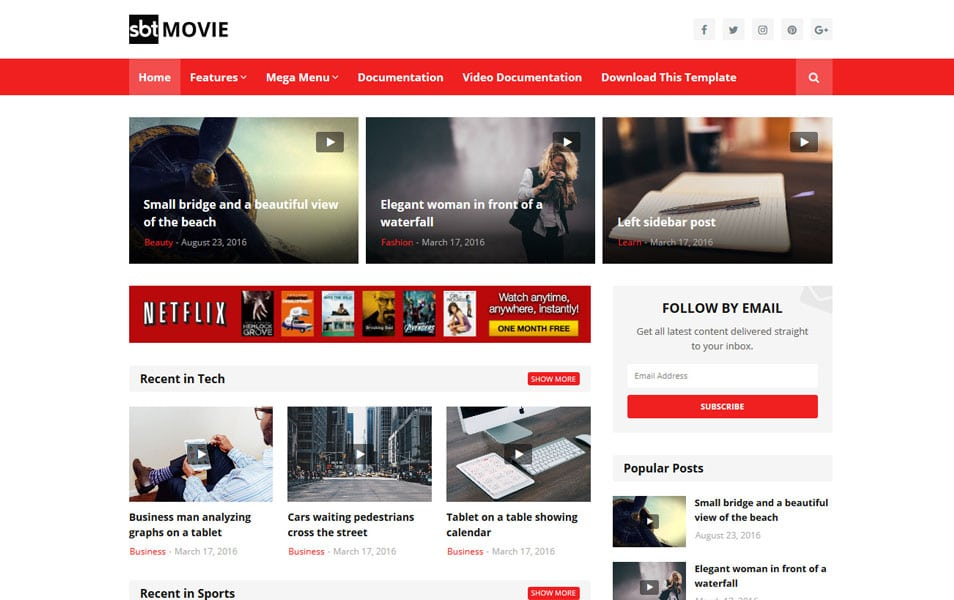 SBT Movie Responsive Blogger Template