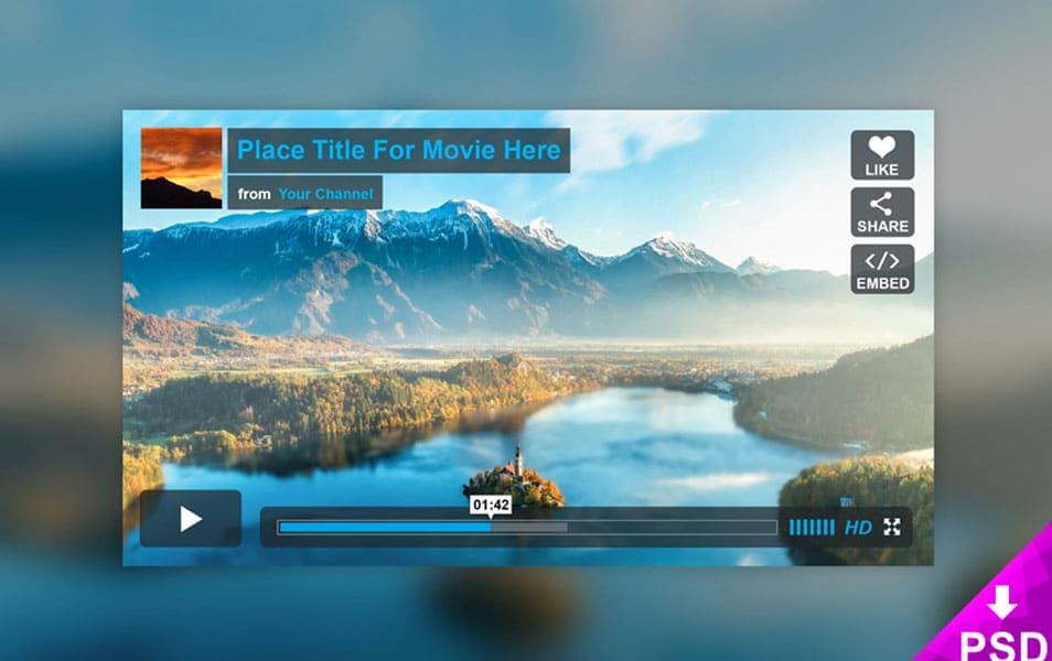 Vimeo Player Mockup