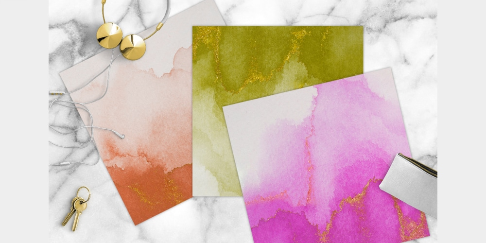 Watercolor Jewel Tone Papers