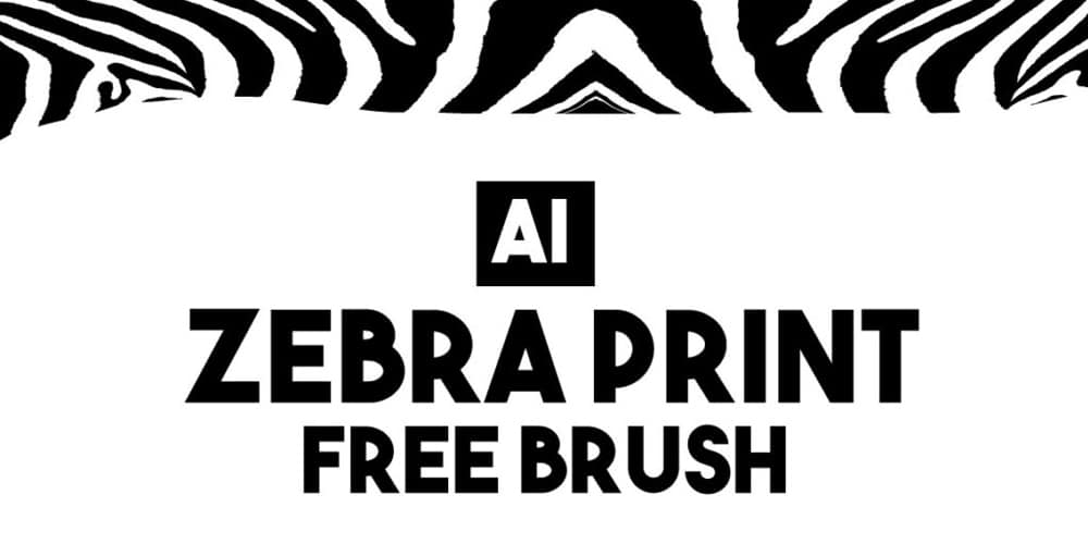 Zebra Print Brush for Illustrator