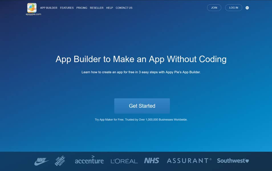 Appy Pie's App Builder