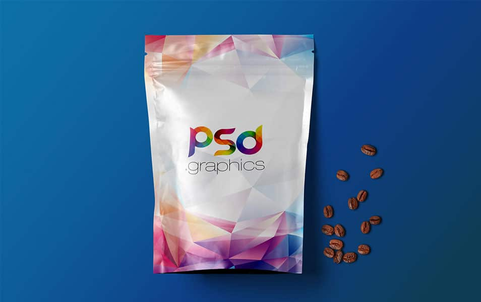 Coffee Bag Mockup Free PSD