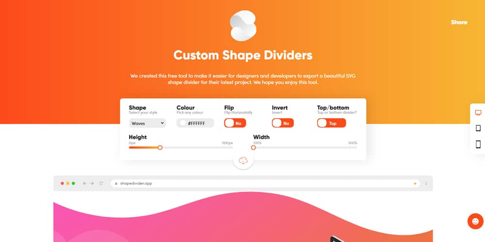 Custom Shape Dividers