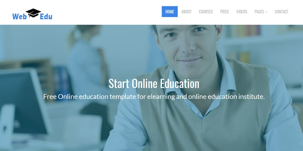 Free Education Html Website Templates Css Author