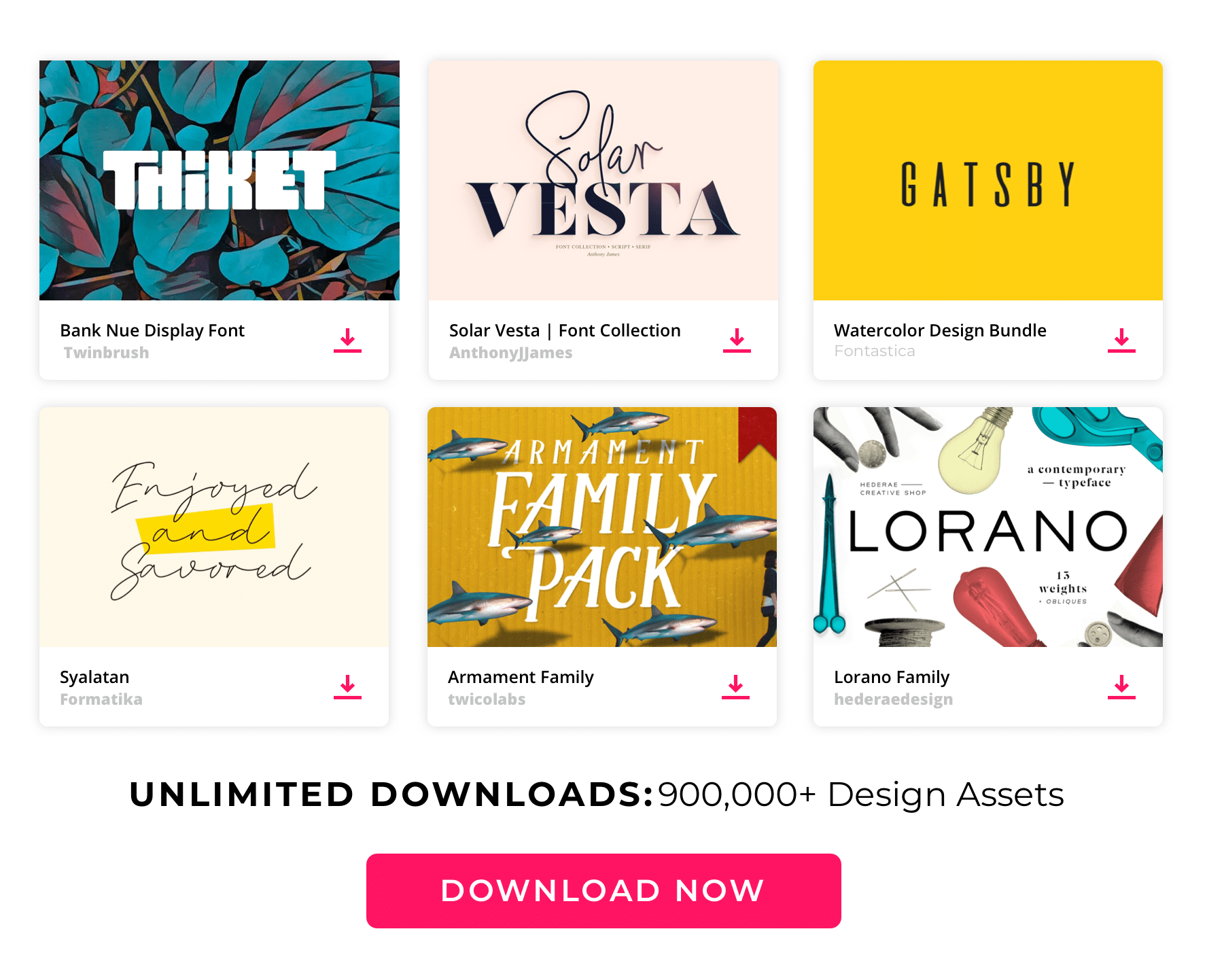 Envato  Large  content top Fonts
