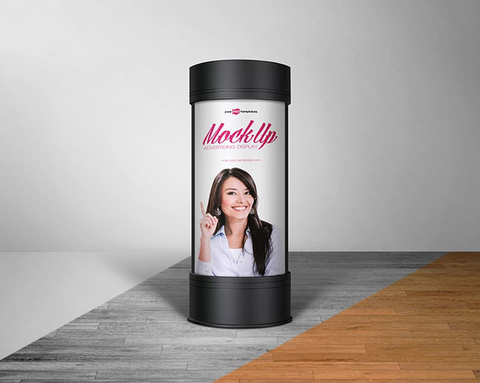 Free Advertising Display Mock-up in PSD