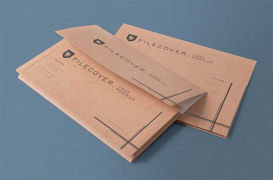 Free Pocket Folder Mockup PSD