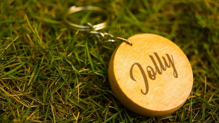 Free Round Wood Key Chain Mockup PSD