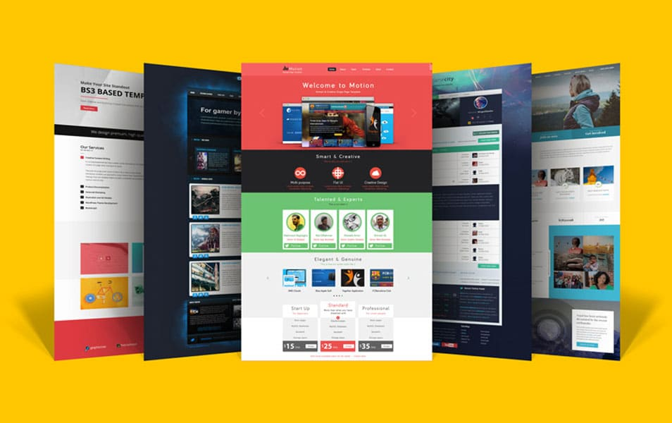 Free Website Layout Design Showcase Mock-up PSD