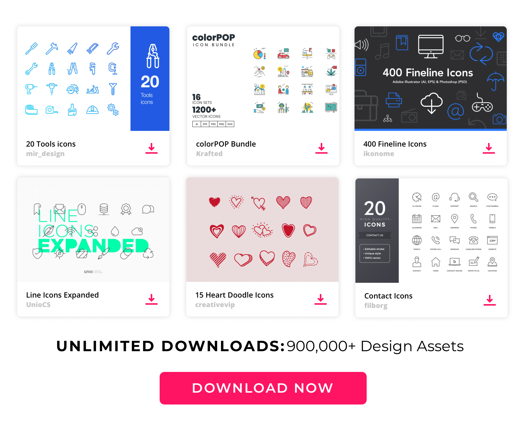 Envato Large content top Icons