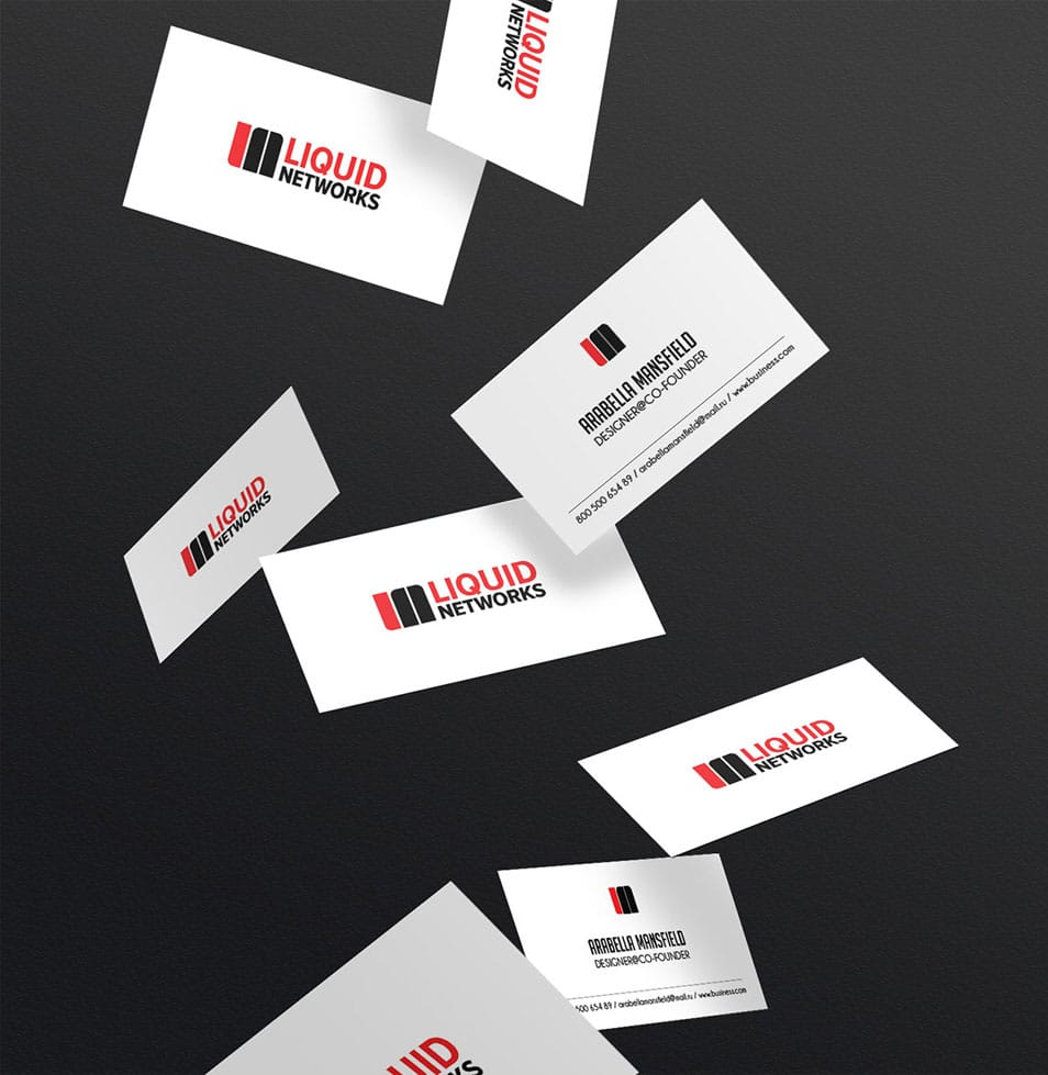 Mockup Flying Business Card PSD Template