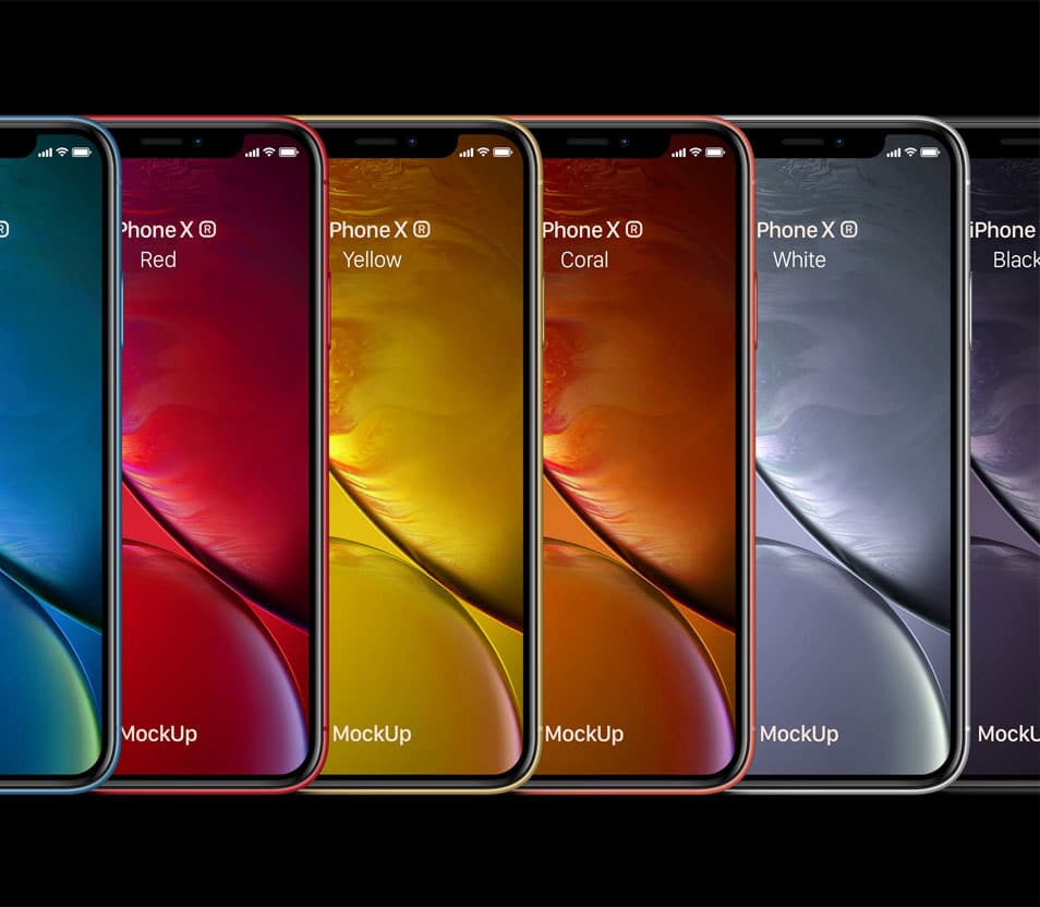PSD iPhone XR Mockup