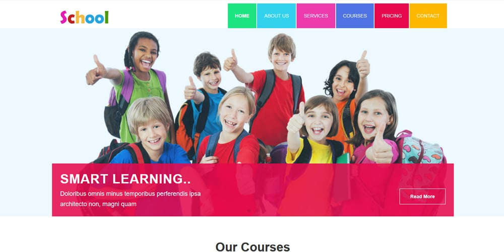 School Educational HTML5 Template