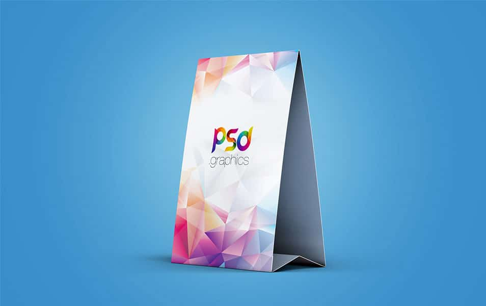 Table Tent Mockup Template Free PSD