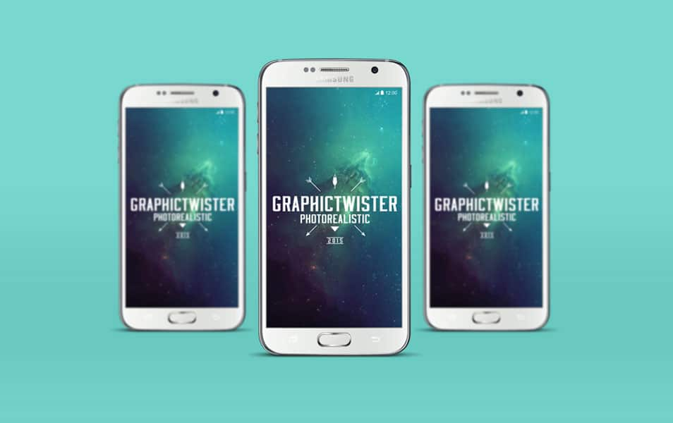 Triple View of Samsung S6 Mockup
