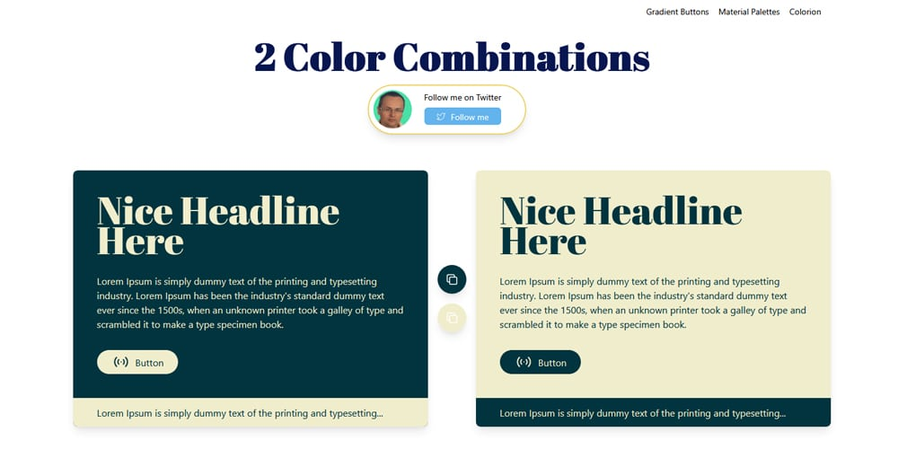 2 Color Combinations