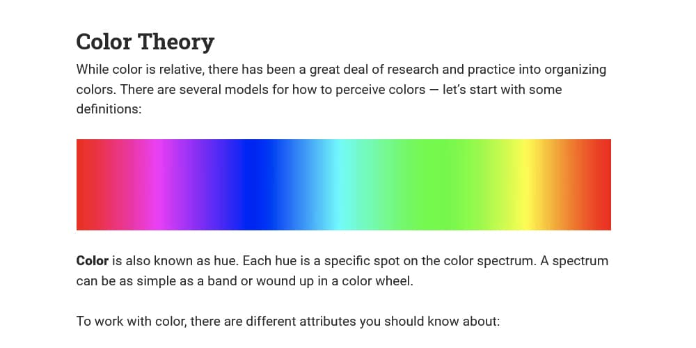 Color Theory and Contrast Ratios