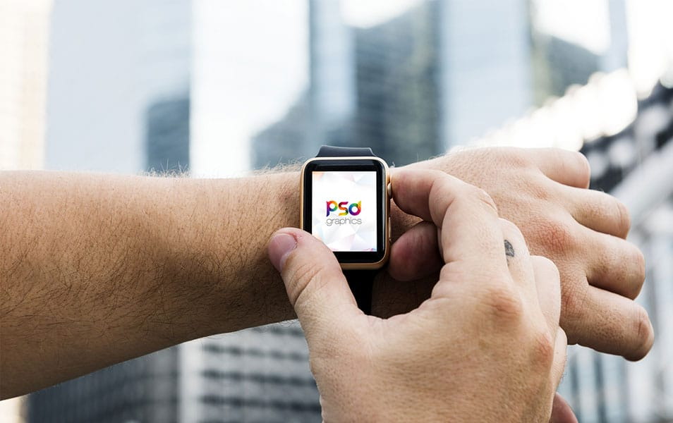Free Apple Watch Mockup PSD