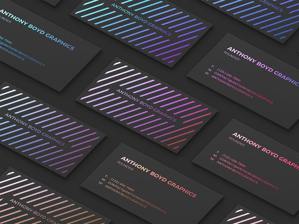 Modern Customizable Business Card Grid Mockup