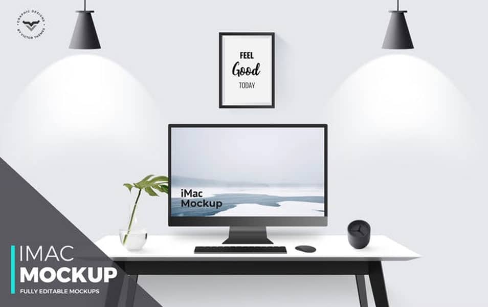 iMac with table