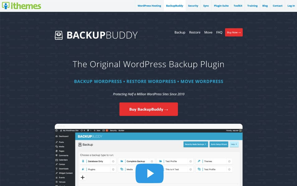 BackupBuddy - WordPress Backup Plugins
