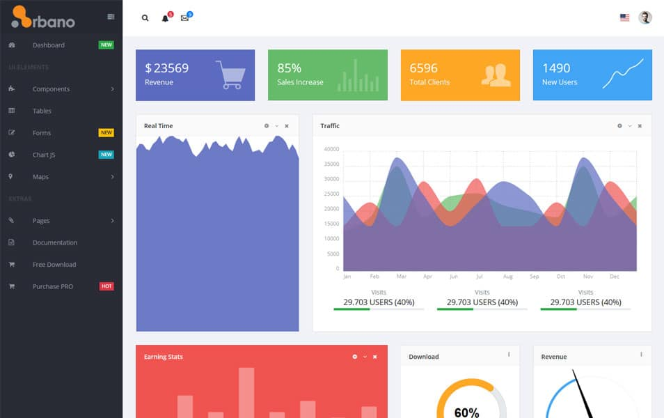 Arbano - Free VueJS Bootstrap Admin Template
