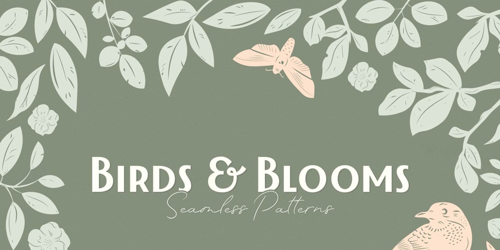 Birds-and-Blooms-Patterns
